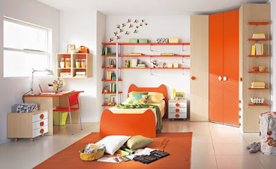 kamar tidur belajar anak moder minimalis